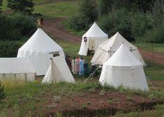How to make a spoke pavillion tent.