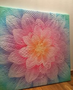 Ideas For Flower Quilting Designs Colour Machine Quilting Designs, Quilting Projects, Quilting Ideas, Longarm Quilting, Free Motion Quilting, Nancy Zieman, Blog Art, Sunflower Quilts, Charm Pack Quilts