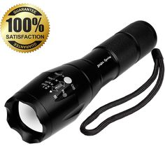 Portable Tactical LED Flashlight/Torch/Handheld Flashlight, Black-900 Lumen CREE XM-L T6 Super Bright Flash Light, Zoomable Waterproof Durable, 5 Modes, Camping HikingFishing Light- By JIAJIA Spring -- This is an Amazon Affiliate link. Want to know more, click on the image.