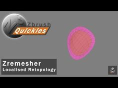 Zbrush 'Quickies' - Localised Zremesher Retopology - YouTube
