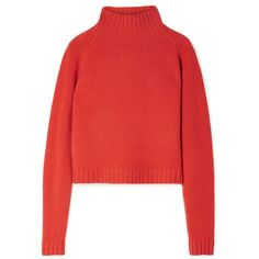 673d6ab635 The Elder StatesmanHighland Cropped Cashmere Turtleneck Sweater (42.165  RUB) via Polyvore featuring tops