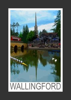 Wallingford bridge by the Thames, Oxfordshire (Art Print)