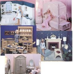 Plastic Canvas fashion doll furniture patterns and ideas