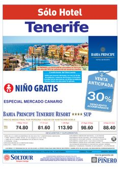 Sólo Hotel residentes -30% H. Bahía Príncipe Tenerife Resort - http://zocotours.com/solo-hotel-residentes-30-h-bahia-principe-tenerife-resort/