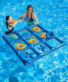 Look at this Pool Tic-Tac-Toe Pool & Lawn Game...