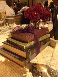 Another look at the book centerpieces - Kimmay