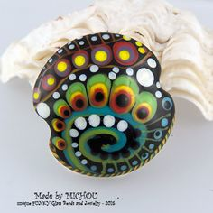 Space Traveling Art Glass 1 focal bead by by michoudesign