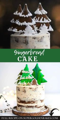 This gingerbread layer cake with cinnamon cream cheese frosting is simply perfect for Christmas celebrations.