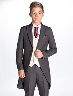 boys grey morning suit