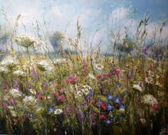 'Summer blanket of colour' by Marie Mills, 100cm x 80cm, Oil on linen, £1295. www.lyndhurstgallery.co.uk