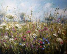 'Summer blanket of colour' by Marie Mills, 100cm x 80cm, Oil on linen, £1295. www.lyndhurstgallery.co.uk