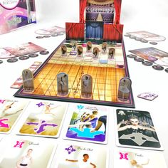On Pointe is a new ballet board game.  Start at the barre and you will go far.  Dance your stay to the top ! Visit analoggames.com to see more.  Free shipping to the US & Canada with code - FREESHIPPING50 Tabletop Board Games, Game Start, Barre, Gifts For Girls, Card Games, Dancer, Great Gifts, Canada, Artists