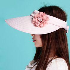 Flower visor hat wide brim sun protection hats UV protection 9577fd054be