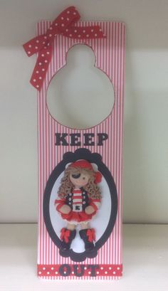 Girl Pirate Bedroom Door Hanger - adapting the Sugar Buttons Pirate - excellent idea! Pirate Bedroom, Sugar Mold, Girl Pirates, Button Cards, Clay Dolls, Air Dry Clay, Room Themes, Christmas Stockings, Polymer Clay