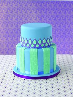How neat! I love the idea of shingling on a cake