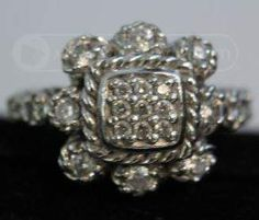 shopgoodwill.com: Signed Judith Ripka Sterling Silver Ring CZ Size 6