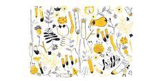 Between The Yellow Flowers - Erica Salcedo Illustration potfolio