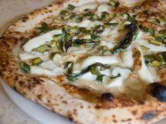 Noci e Zucchini  @ Keste, West Vill -- white pie w/ a creamy walnut base, stewed zucchini, basil, & a happy amount of smoked buffalo mozzarella