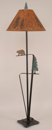Walking Bear/Pine Tree Floor Lamp