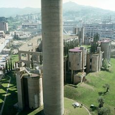 """the factory [ricardo bofill] an unused cement factory re-purposed as the head office and """"design gathering space"""" for Taller de Arquitectura"""