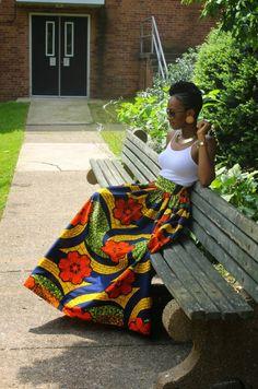 Inspiration – La maxi jupe en pagne | Pagnifik