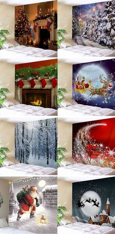 home decor ideas for you:Christmas Wall Tapestries