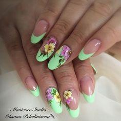 Oksana Pchelintseva - Photo from the album Elegant Nail Designs, Nail Art Designs, Fabulous Nails, Perfect Nails, Cute Nail Art, Cute Nails, Spring Nails, Summer Nails, Zebra Print Nails