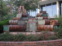 Book Fountain, Main Library by Public Library of Cincinnati & Hamilton County, via Flickr