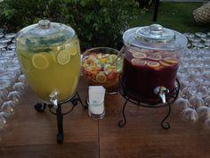limonata ve alkolsüz frambuaz kokteyli.