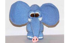 Голубой слоник. Крючком