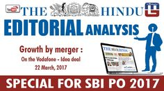 THE HINDU EDITORIAL : GROWTH BY MERGER | SBI PO 2017