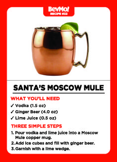 Santa's Moscow Mule Cocktail Recipe