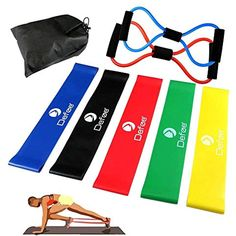 Set of 5 12-Inch Resistance Loo... HSicily Resistance Bands for Legs and Butt
