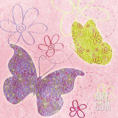 Fly Away I (pink) Art Print at Art.com