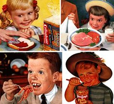 Creepy children to sell products