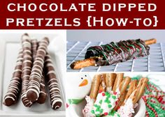 GREAT teacher gift for Valentine's Day! Chocolate Dipped Pretzel Sticks w/Red/white striping or sprinkles!