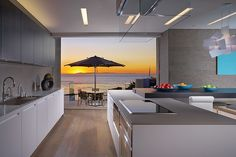 Rockledge residence kitchen room with sea views