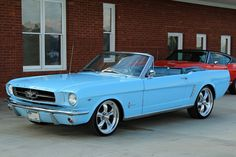 1965 Mustang convertible...one of the most interesting and unique blues...loved you since I was a babe, Babe!