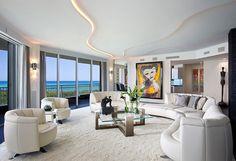 The most amazing luxury homes ever: brilliant architecture and brilliant interior design project Cozy Living Rooms, Living Room Modern, Living Room Designs, Living Room Decor, Living Spaces, Design Moderne, Deco Design, Luxury Apartments, Luxury Homes
