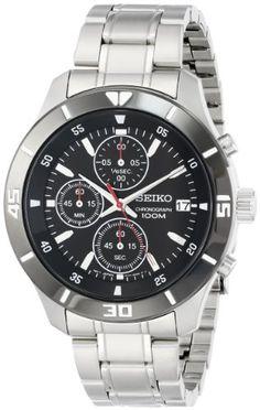 5d17127e9f46 Seiko Men s SKS405 Analog Display Japanese Quartz Silver Watch Relojes