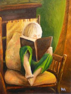 Untitled Painting by Anne Thouthip - Untitled Fine Art Prints and Posters for Sale Reading Art, I Love Reading, Kids Reading, Reading Books, I Love Books, Good Books, My Books, Books To Read, Illustrations