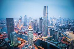 The bank of haihe river world financial center 海河岸边环球金融中心