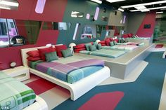 Take a look inside the all-new Big Brother house. Big Brother 12, Big Brother Canada, Sleepover Room, Power Trip, Interior Exterior, Minimalist Design, Futuristic, Mid-century Modern, House Plans