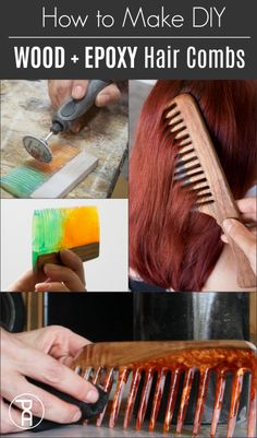 Epoxy Resin + Wood Live Edge Hair Comb How to make wood and epoxy resin live edge hair and beard com Easy Woodworking Projects, Fine Woodworking, Woodworking Furniture, Epoxy Resin Wood, Do It Yourself Organization, Edges Hair, Walnut Shell, Live Edge Wood, Cool Diy Projects