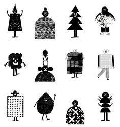 organic looking mascots