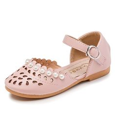 2017 Summer Children Sandals Girls Princess Shoes Pink Fashion Pearl Beads Flat Girls Sandals Kids Closed Toe Baby Shoes Little Girl Shoes, Baby Girl Shoes, Girls Shoes, Kids Sandals, Baby Sandals, Ella Shoes, Girl Unicorn Costume, Princess Shoes, Stylish Sandals