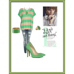 Green is Golden, created by cassiecclayton on Polyvore