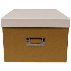 Organique Storage Box Natural/White 24.5cm x 34.5cm x 17cm - Storage Boxes - Home Decor - Homewares - The Warehouse