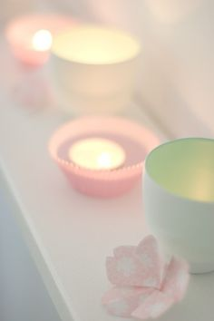 Pretty pastel candles♡