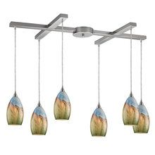 View the Elk Lighting 10077%2F6 Six Light Down Lighting Chandelier from the Geologic Collection at LightingDirect.com.